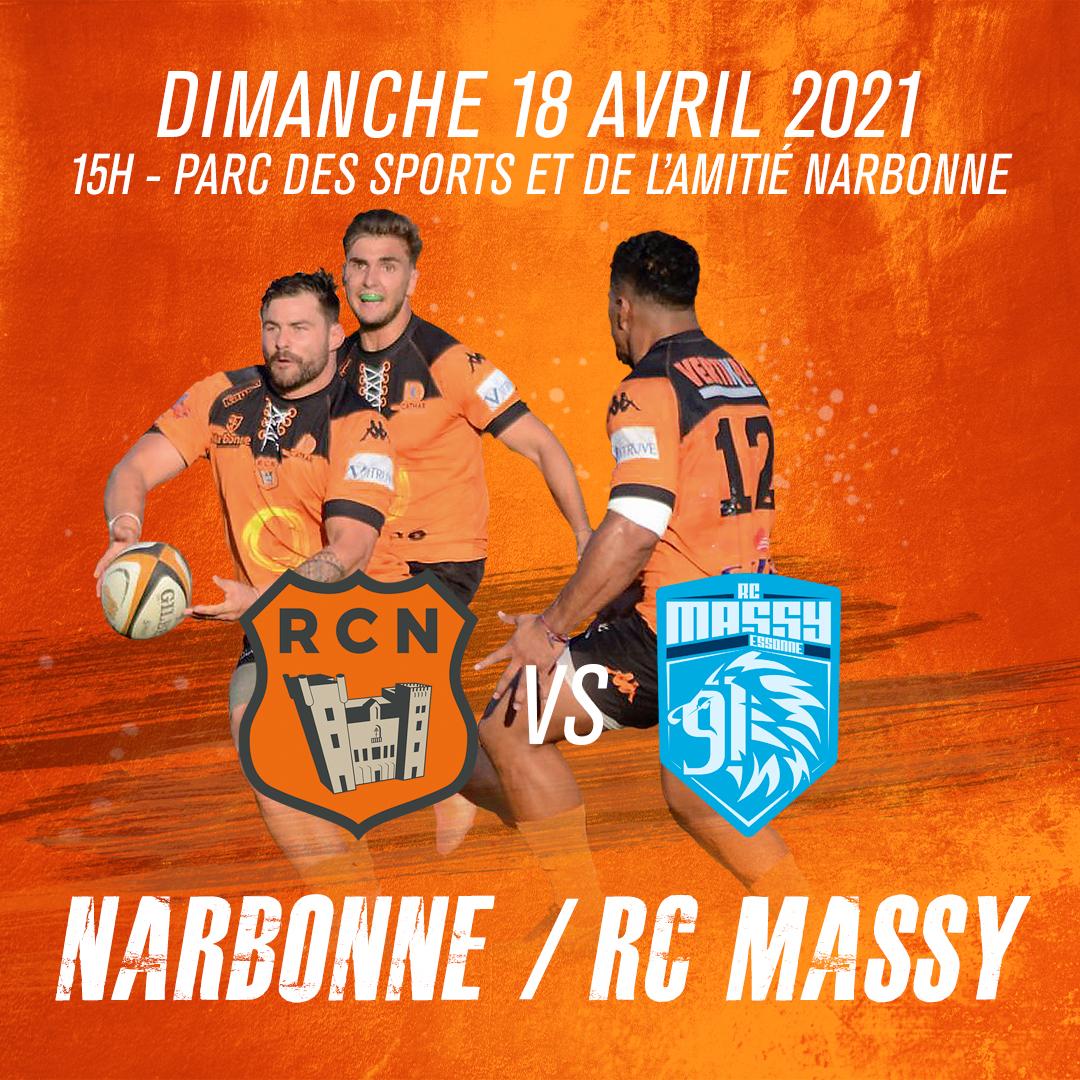 RC Narbonnais – RC Massy Essonne dimanche 18 avril 2021