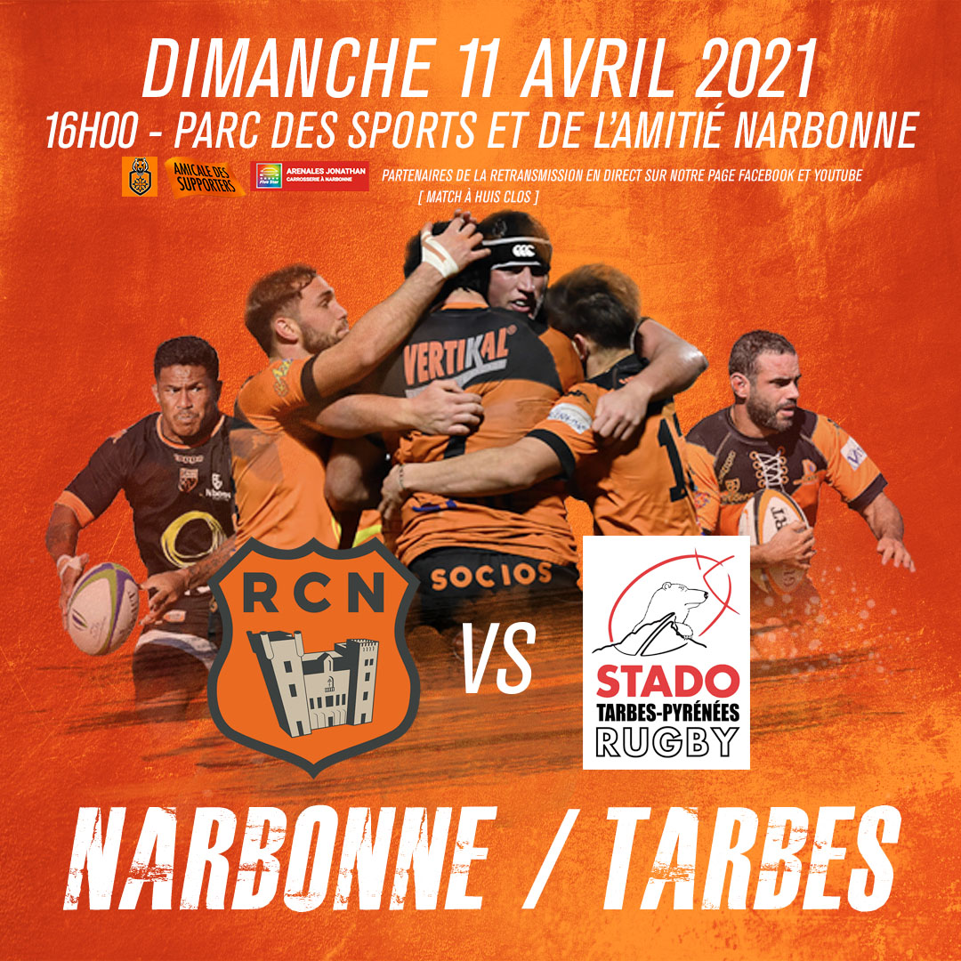 Lien retransmission du match RCN-TARBES dimance 11 avril 16h00