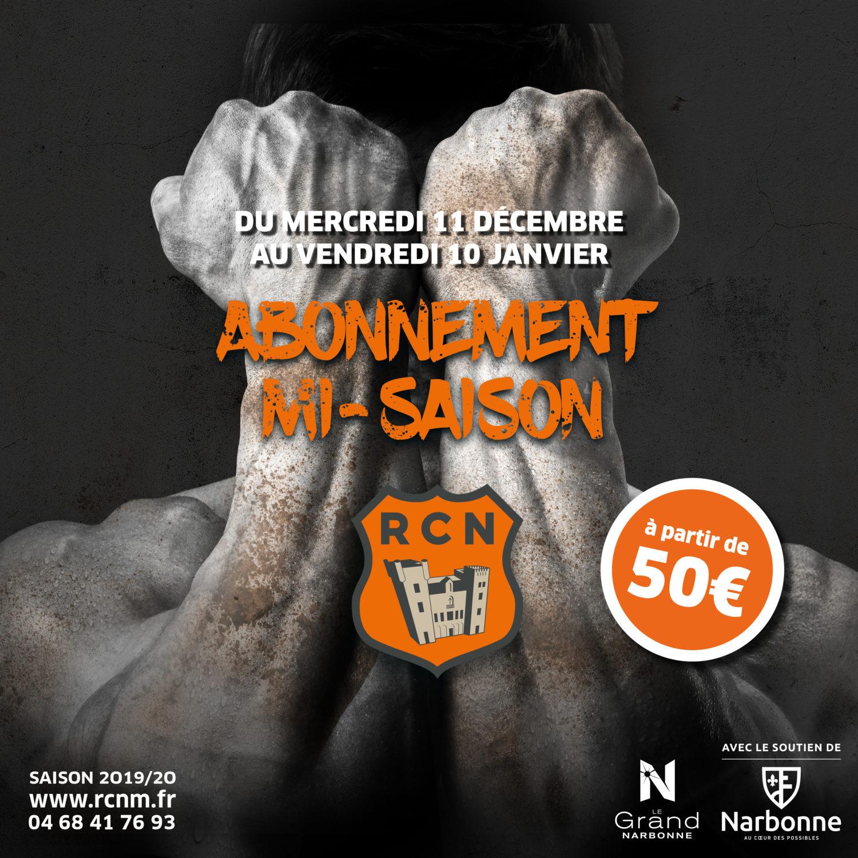 ABONNEMENT MI-SAISON 2019-2020
